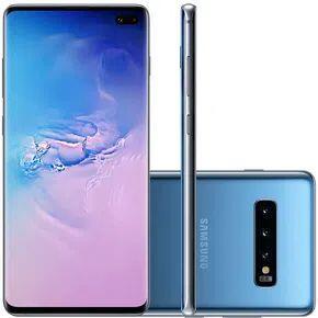 "[R$ 2615]Samsung Galaxy S10 Plus Azul 128GB Tela 6.4"" 8GB RAM Câmera Tripla 16MP + 12MP + 12MP"