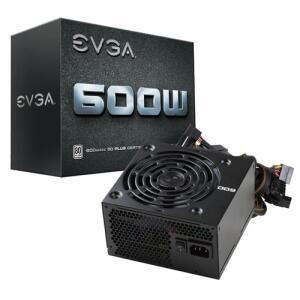 Fonte EVGA 600 W1 600W, 80 Plus White, PFC Ativo, 100-W1-0600-K1