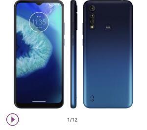 "Smartphone Motorola Moto G8 Power Lite 64GB Azul - 4G Octa-Core 4GB RAM 6,5"" Câm. Tripla + Selfie 8MP"