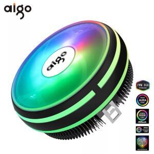 Aigo cpu cooler radiador 120mm pwm 12 v sincronização rgb led 4pin cpu cooler