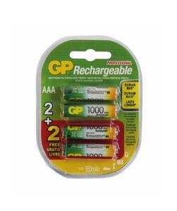 Pilha recarregável AAA 1000mah Gp Blister C/4 Pilhas 1.2v