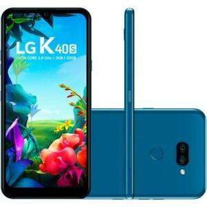 Smartphone LG K40S, 32GB, 13MP, Tela 6.1, AZUL - LMX430BMW | R$730