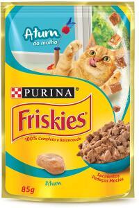 Purina Friskies Ração Úmida Para Gatos Adultos Atum Ao Molho 85G