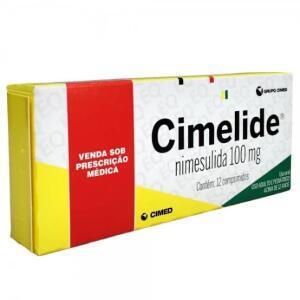 NIMESULIDA - CIMELIDE 100MG 12 COMPRIMIDOS R$2