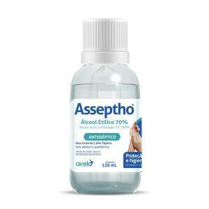Álcool 70% Asseptho 120ml   R$1