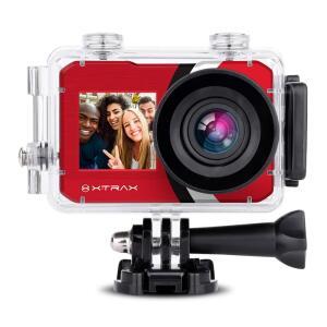 Câmera Digital e Filmadora Xtrax Selfie 4K 16MP Vermelha R$ 411