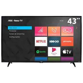"Smart tv AOC roku TV 43"" 43S5195/78 | R$ 1.349"