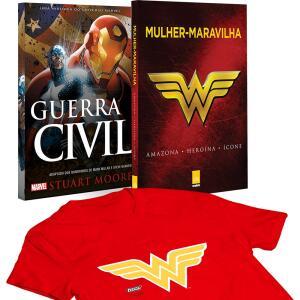 Livro - Mulher-Maravilha + Guerra Civil + Camiseta G