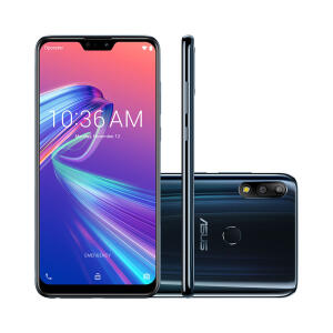 Smartphone Asus ZenFone Max Pro M2 Preto Tela 6.26 Pol. Câmera Dupla 12MP Selfie 13MP Dual Chip Android 9.0