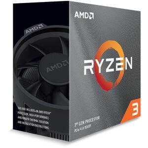 R$649,00 - AMD Ryzen 3 3100 3.6GHz (3.9GHz Turbo), 4-Cores 8-Threads, Cooler Wraith Stealth, AM4, 100- 100000284BOX