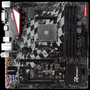 Placa Mãe Biostar Racing X470GTQ, Chipset X470, AMD AM4, MATX, DDR4