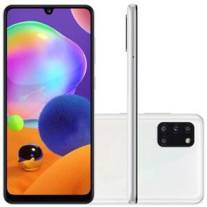 Smartphone Samsung Galaxy A31, 128GB, 48MP, Tela 6.4´, Branco - SM-A315GZWKZTO