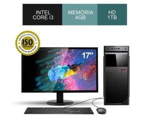 Computador Core i3, 4GB Ram, HD 1TB, Monitor, Teclado e Mouse