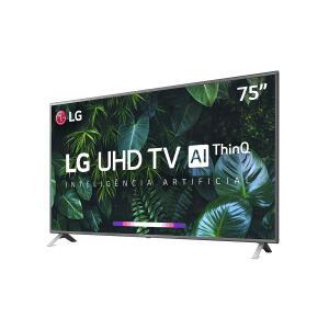 "Smart TV LED 75"" LG UN8000PSB 4K Bluetooth HDR, Thinq Ai, Google Assistente, Amazon Alexa, Quad Core Processor"