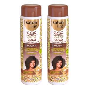 Kit 2 Shampoos SOS Cachos Salon line