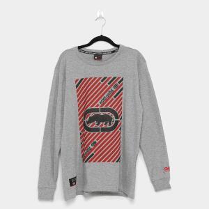 Camiseta Ecko Manga Longa Masculina - Cinza | R$30