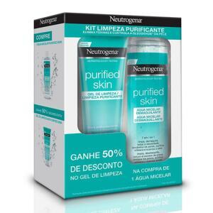 Kit Água Micelar Neutrogena Purified Skin 200ml Mais Gel De Limpeza Facial 80g R$ 36