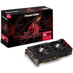 Placa de Vídeo PowerColor Radeon RX 570 Red Dragon Dual, 4GB | R$1.099