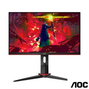 """Monitor Gamer 23,8"""" AOC Hero Widescreen com 100 milhões:1 max de Contraste - 24G2/BK R$985"""