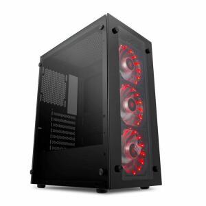 Gabinete Gamer Pichau Magpie III FAN Vermelho | R$190