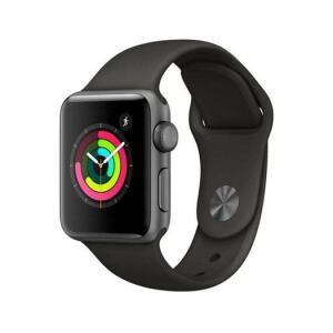 Apple Watch Series 3 GPS 38 mm – Caixa cinza-espacial com pulseira preta   R$1499