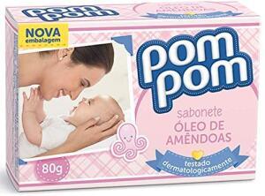 [PRIME] Sabonete PomPom, Óleo de Amêndoas, 80g - 5 un | R$2