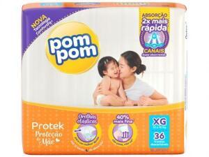 [R$ 30 reais de volta/APP] Fralda Pom Pom Protek Proteção de Mãe - Tam. XG R$ 35
