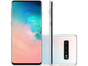 "[ CLUBE DA LU + APP ] Smartphone Samsung Galaxy S10 128GB Branco 4G - 8GB RAM Tela 6,1"" Câm. Tripla + Câm. Selfie 10MP"