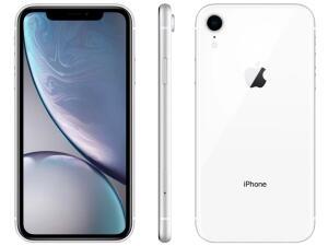 "iPhone XR 64GB Branco 4G Tela 6,1"" Retina - Câmera 12MP + Selfie 7MP iOS12 Proc. Chip A12 R$3149"