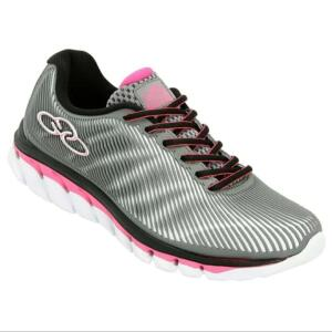 [TAM 34] Tênis Olympikus Perfect Feminino - Cinza e Pink | R$50