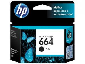 [R$25 de Volta pelo App] Cartucho de Tinta HP Preto 664 - R$49