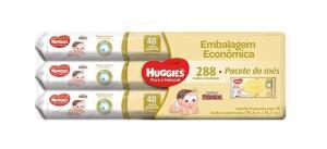 (Prime) Huggies Lenços Umedecidos Pome, Pacote de 48x6 toalhas, 6 Pacotes | R$46,47