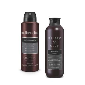Combo Malbec Club : Shampoo + Desodorante Aerosol R$ 51