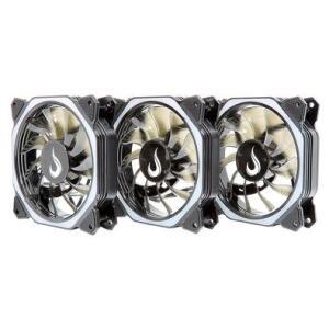 Kit Cooler FAN Rise Mode RGB Aura, 3x120mm | R$120
