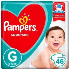 Fralda Pampers Supersec G - 2 pcts - 92 unidades   R$60