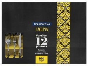 Faqueiro Tramontina Laguna Inox-100 Peças | R$280