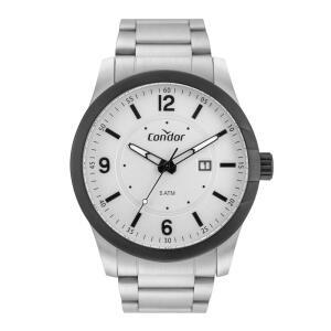 Relógio Masculino Analógico Condor CO2115KWR/4B - Branco | R$ 128