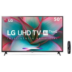 "Smart TV LED 50"" UHD 4K LG 50UN7310PSC Wi-Fi, Bluetooth, HDR, Inteligência Artificial ThinQ AI"