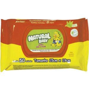 Toalha Umedecida Mãe e Filho Natural Baby 50un - R$5