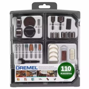 Kit para Mini Retifica DREMEL 110 peças Uso Geral