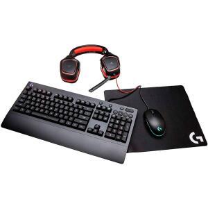 Kit Gamer - Mouse G203 RGB + Mousepad G240 + Teclado G213 RGB US + Headset G230 - R$574