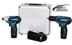 Combo com duas parafusadeiras 12v Makita com maleta