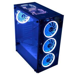 Gabinete Gamer Rise Mode Glass 06, Mid Tower, RGB, com FAN, Lateral e Frontal em Vidro - R$380