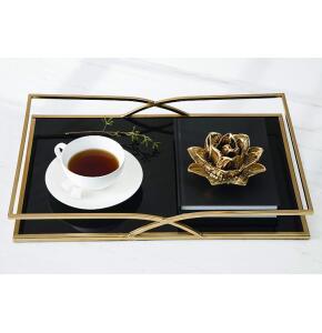 [55% OFF] Flor em Cerâmica - Dourada (Moas)