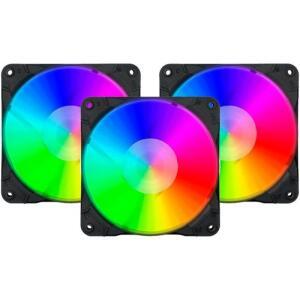 Cooler Gabinete 12cm Redragon RGB c/ controle (pack com 3) | R$150