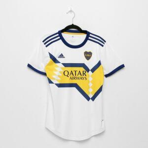 Camisa Boca Juniors Away 20/21 s/n° Torcedor Adidas Feminina - Branco e Azul