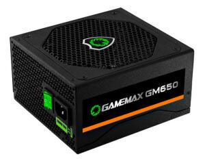 Fonte De Alimentação Preta 650w Gamemax Gm650 80 Plus Bronze
