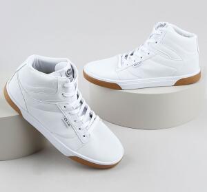 Tênis Masculino Ollie Cano Alto Com Pespontos Brancos | R$90