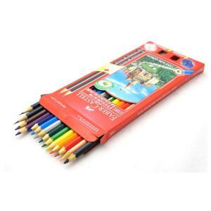 [PRIME] Kit Escolar Faber-Castell 12 Lápis de Cor + 2 Lápis + Apontador + Borracha | R$11
