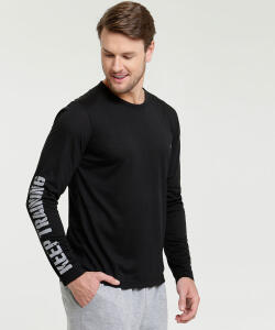 Camiseta Masculina Fitness Estampada Manga Longa MR - R$25